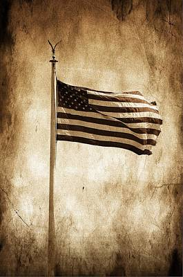 Poster featuring the photograph Old Glory by Aaron Berg