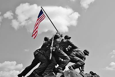 Old Glory At Iwo Jima Poster