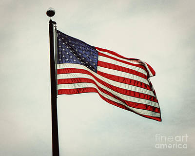 Old Glory In The Wind Poster by Emily Kay