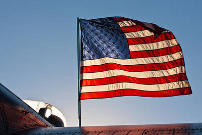 Old Glory Over The Liberator Poster
