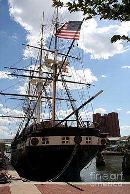 Old Glory - Uss Constellation Poster by Christiane Schulze Art And Photography