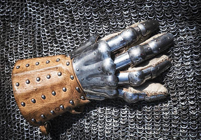 Old Glove Of A Medieval Knight Poster by Matthias Hauser