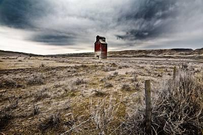 Old Grain Elevator, Dorothy, Alberta Poster by Steve Nagy