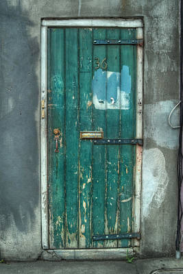 Old Green Door In Quarter Poster