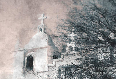Poster featuring the painting Old Guadalupe Church by Julie Lueders