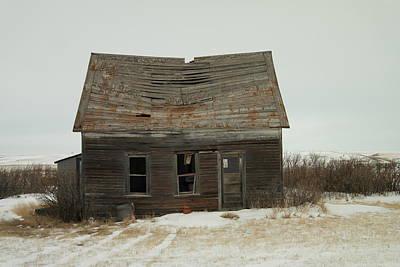 Old Homestead North Dakota Poster by Jeff Swan