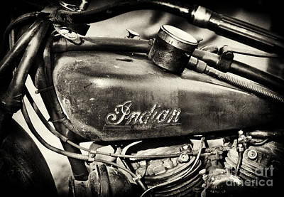 Old Indian Scout Sepia Poster