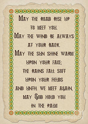 Old Irish Blessing Poster