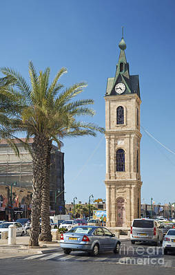 Old Jaffa Clocktower In Tel Aviv Israel Poster