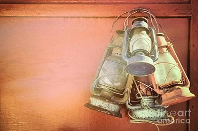 Old Kerosene Lanterns Poster by Jane Rix