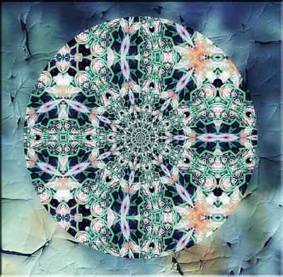 Old Lace Mandala Poster