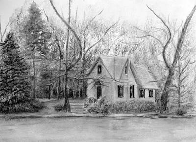 Old Library On Lake Afton - Winter Poster