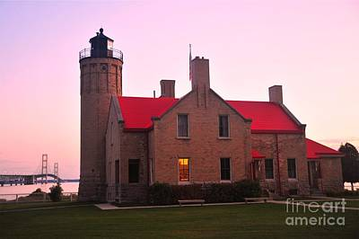 Poster featuring the photograph Old Mackinac Point Lighthouse by Terri Gostola