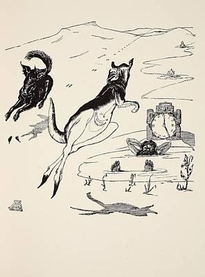 Old Man Kangaroo At Five Poster by Rudyard Kipling