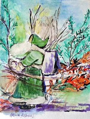 Old Man Winter Poster by Helena Bebirian