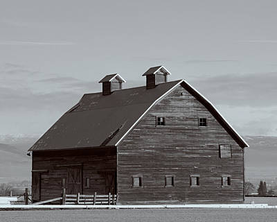 Old Manastash Barn - Kittitas County - Washington Poster by Steve G Bisig