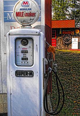 Old Marathon Gas Pump Poster