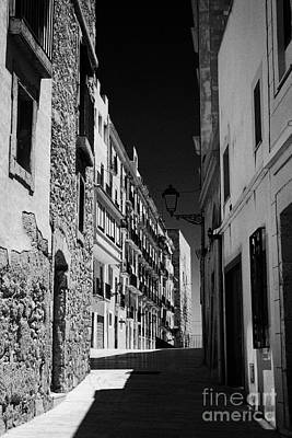Old Medieval Narrow Streets Leading To Roman Ruins On Site Of Old Circus Tarragona Catalonia Spain Poster