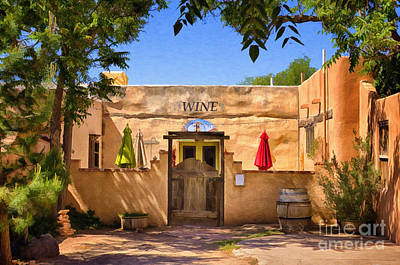 Old Mesilla Wine Tasting Room Poster by Priscilla Burgers