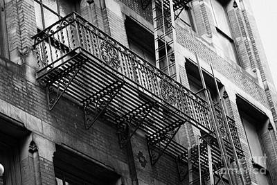 Old Metal Fire Escape Staircase On Side Of Building Greenwich Village New York City Poster by Joe Fox