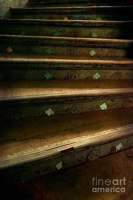 Old Metal Stairs With Ornaments Poster