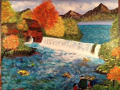 Poster featuring the painting Old Michigan Mill by Michael Rucker