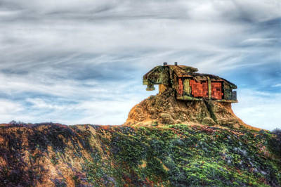 Old Military Base At Devil's Slide - San Mateo County California  Poster by Jennifer Rondinelli Reilly - Fine Art Photography