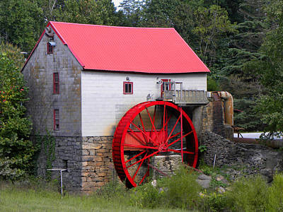 Poster featuring the photograph Old Mill Of Guilford by Sandi OReilly