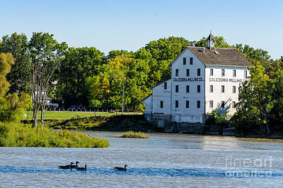 Old Mill On Grand River In Caledonia In Ontario Poster
