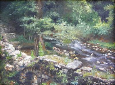 Poster featuring the painting Old Mill Steam II by Lori Brackett