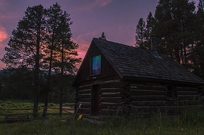 Old Miners Cabin Poster by Michael J Bauer