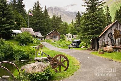 Old Mining Alaskan Town Poster