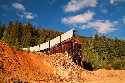 Old Mining Shaft In Silverton  Colorado Poster by Jeff Swan