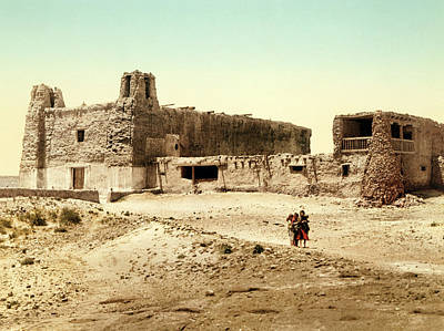 Old Mission Church At Acoma Poster by William Henry Jackson