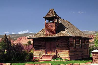 Old Mormon Church, Torrey, Utah, Usa Poster by Michel Hersen