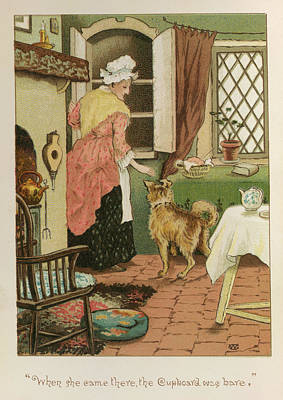 Old Mother Hubbard Poster by British Library
