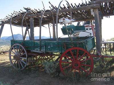 Poster featuring the photograph Old Native American Wagon by Dora Sofia Caputo Photographic Art and Design