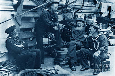 Old Navy Aboard The U S S Mohican In 1888 Poster