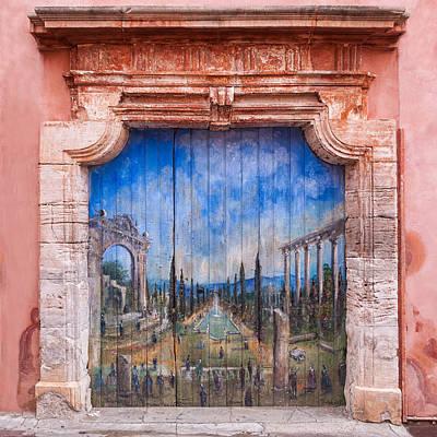 Old Painted Door Poster