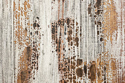 Old Painted Wood Abstract No.2 Poster