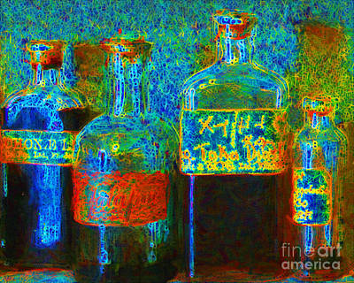 Old Pharmacy Bottles - 20130118 V1a Poster by Wingsdomain Art and Photography
