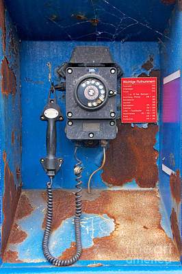 Old Phone At Industrial Harbor Poster