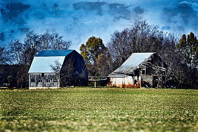 Old Photo Of Old Barn Poster by Bill Swartwout