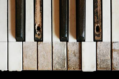 Old Piano Poster
