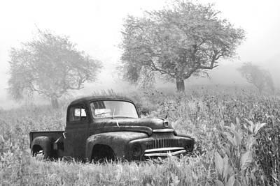 Old Pick Up Truck Poster by Debra and Dave Vanderlaan