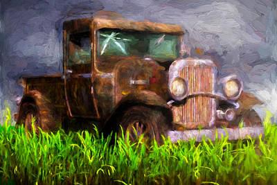 Old Pickup Poster by Bob Orsillo