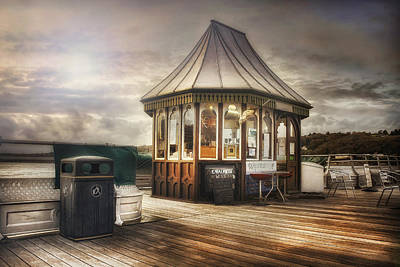Old Pier Shop Poster by Ian Mitchell