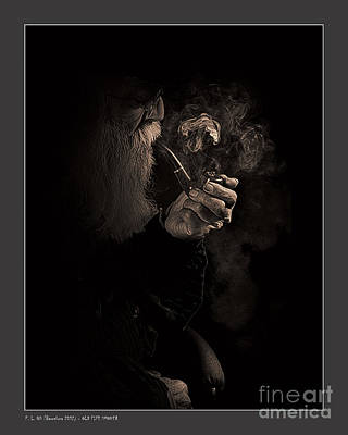 Old Pipe Smoker Poster