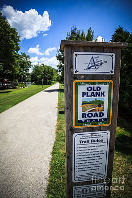 Old Plank Road Trail Sign Poster