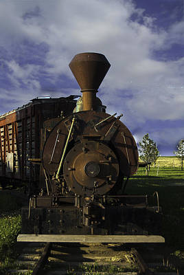Old Prairie Train Poster by Judy Hall-Folde